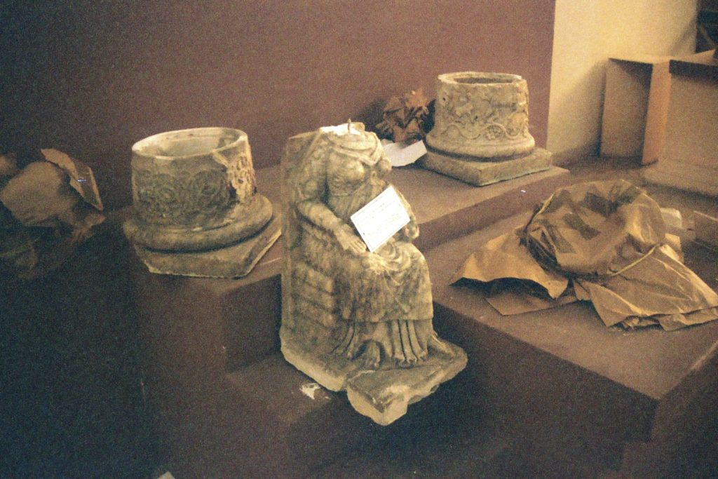 Damaged sculptures in the Iraq Museum, 2013