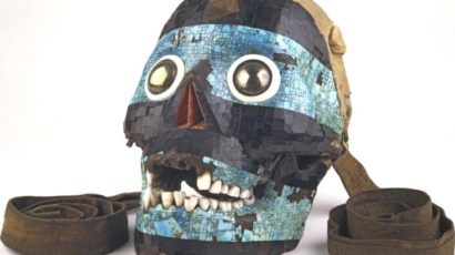 A Mexica ceremonial mask made from a human skull (The British Museum)
